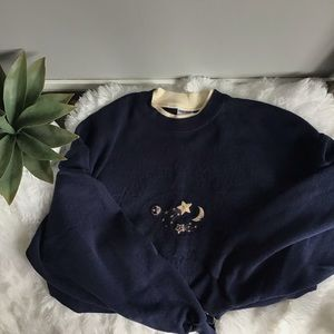 Vintage Collared Astrology Crewneck Sweatshirt